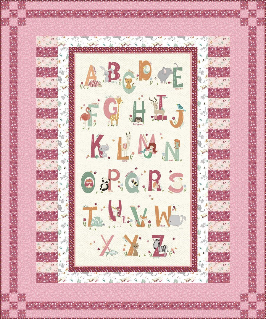 Animal Alphabet Quilt Kit (Pink)