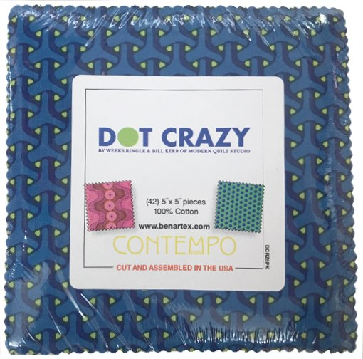 5in Squares Dot Crazy 42pcs