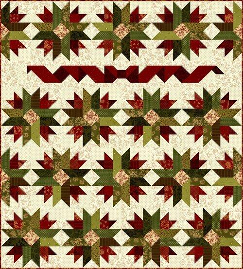 Farmhouse Christmas Patchwork Lap Quilt