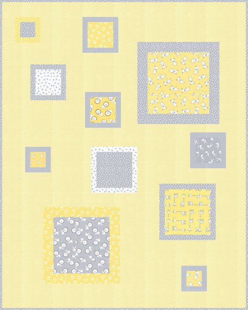 Penned Pals Quilt Kit - Yellow
