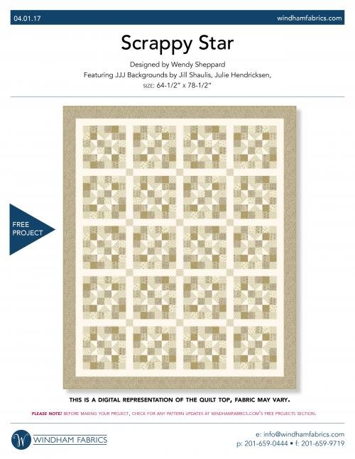 Scrappy Star Quilt Kit
