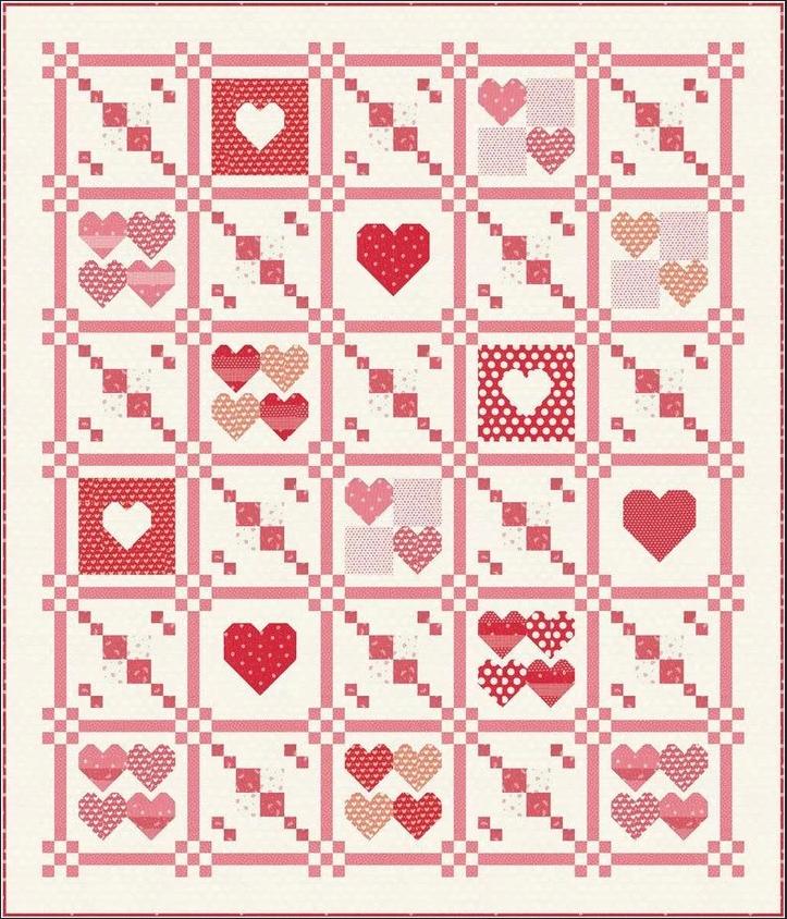 Moda Stitch Pink 2021 Quilt Kit (PRE-ORDER)