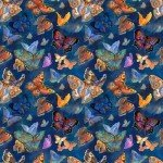 Multi Butterfly Digitally Printed