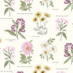 Cream Botanic Flowers