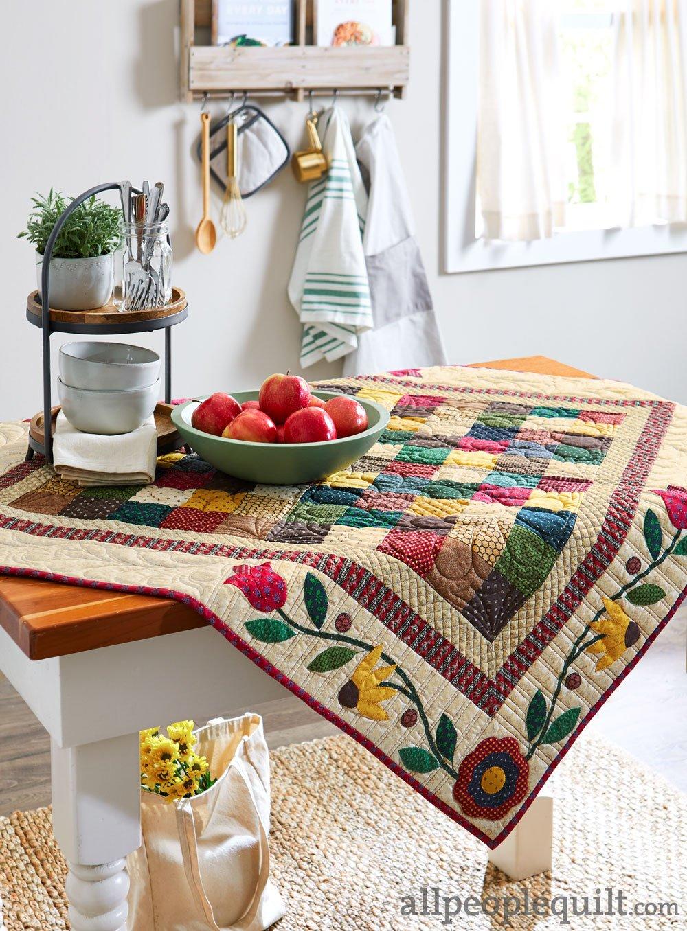 Border Blossoms  Tabletopper Quilt Kit