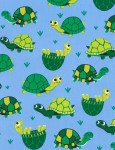 TURTLES IN GREEN ON BLUE BACKGROUND TIMELESS TREASURES
