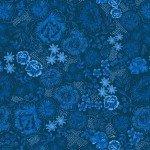 Dark Blue Teatime Floral