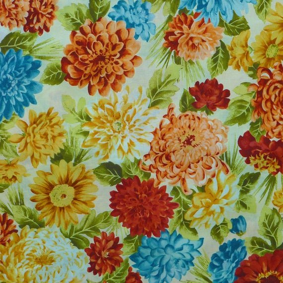 Camden by Hoffman Multi color floral fabric