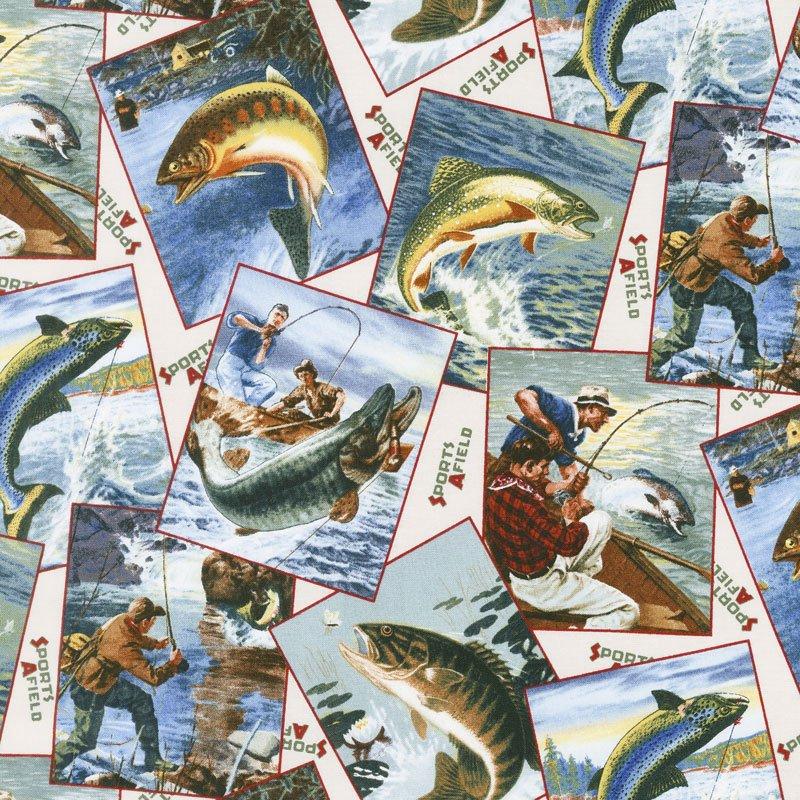 Elizabeth's Studio Sports Afield-fishing cards
