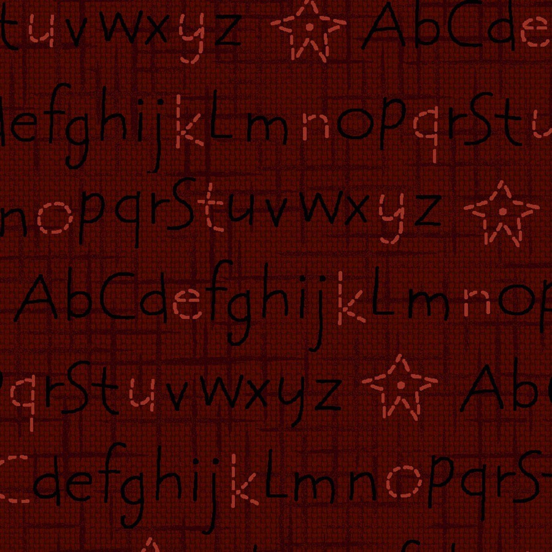 Dark Red Alphabet