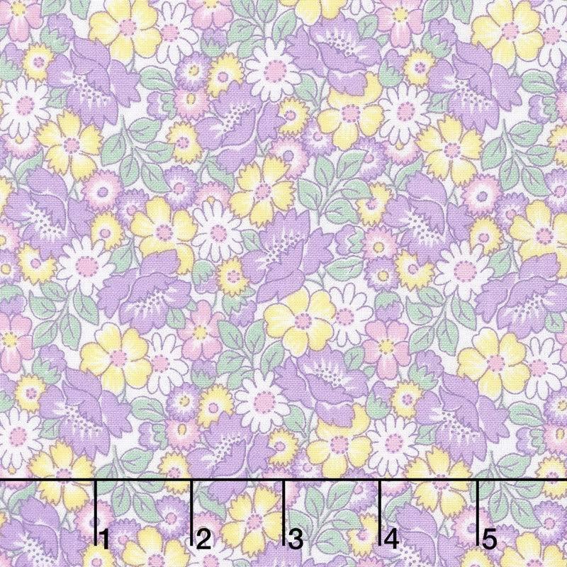 Packed Floral Lavender