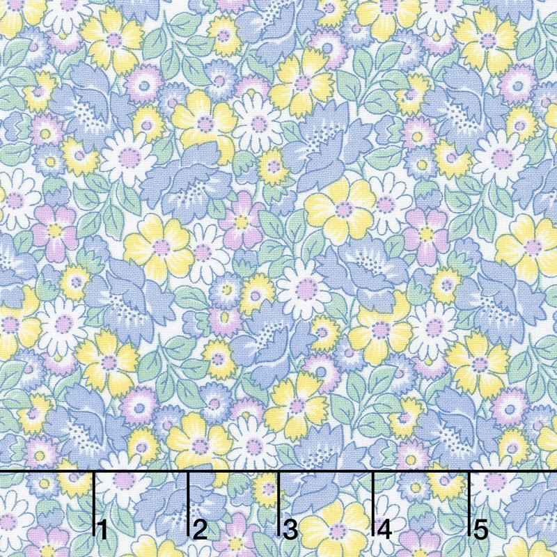 Packed Floral Blue