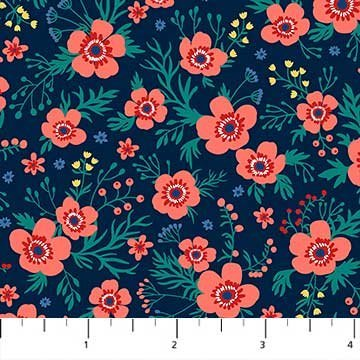 Navy Floral 21901 49