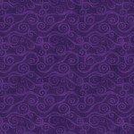 Purple Swirly Scroll 108in Wide Back