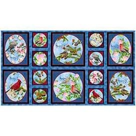 Songs Of Nature SONGBIRD PICTURE PATCHES DARK BLUE