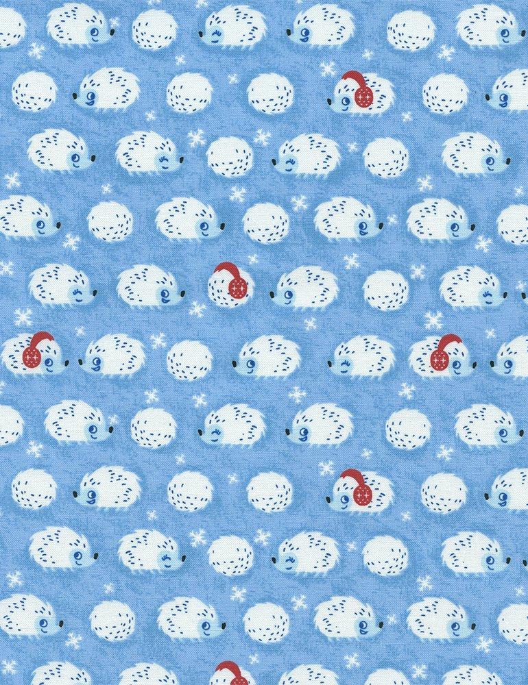 Winter Hedgehogs in Blue