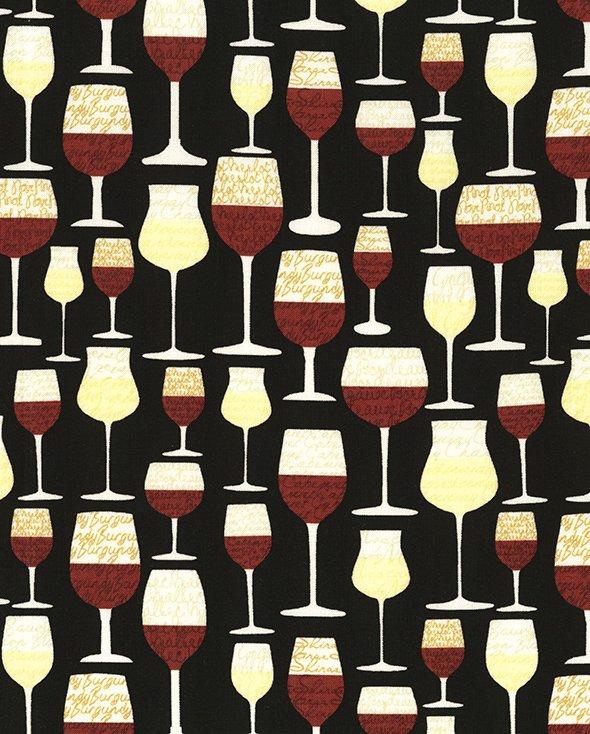 Wine Glasses in Black