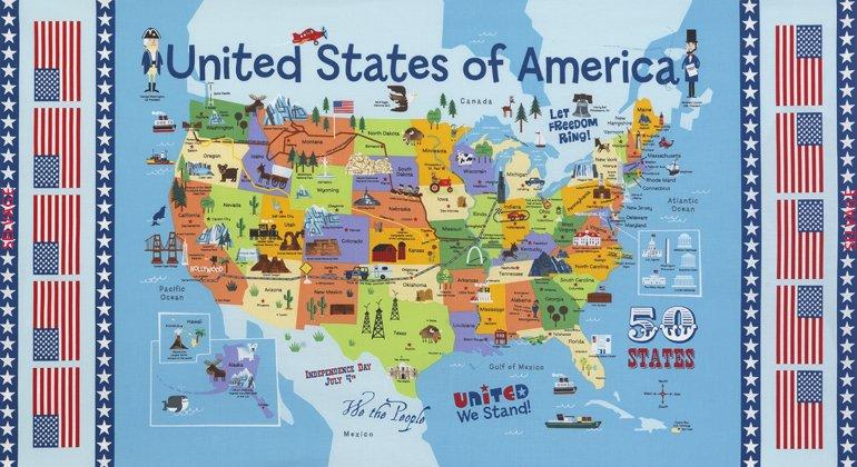 24 USA Map Panel