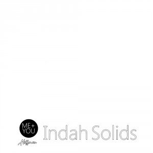 Indah Hand-Dyed Solids Zinc White