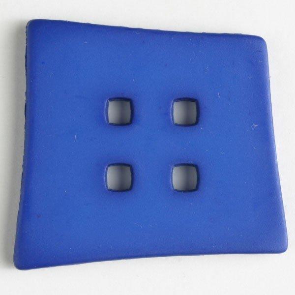 Button Square 55mm Blue