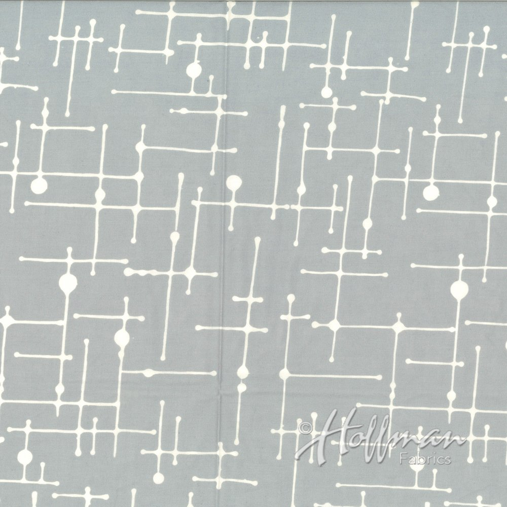 Me + You Batik Line Grid Ice