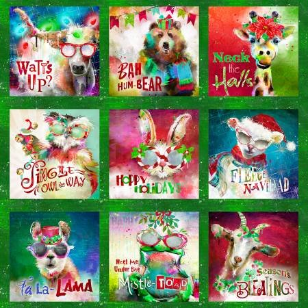 Green Sassy Holiday Panel 78