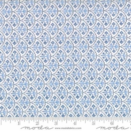 Nordic Stitches Blue and White Crossstitch Clamshells