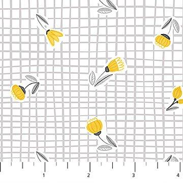 Sew Sweet Flowers on Grid