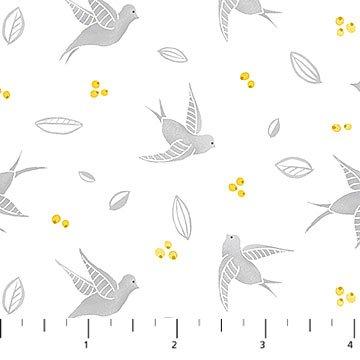 Sew Sweet Birds Lt Gray