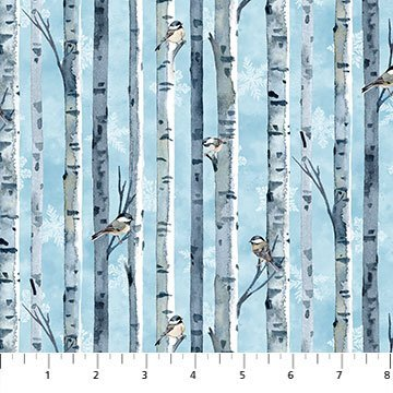 Christmas Woodland Birch Bark Stripe