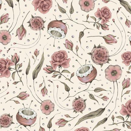 Curiosity Floral on Ecru