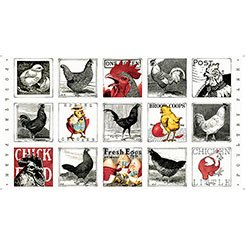 Fowl Play Hens & Chicks Block Panel 64