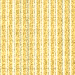 Fowl Play Textured Ticking Yellow