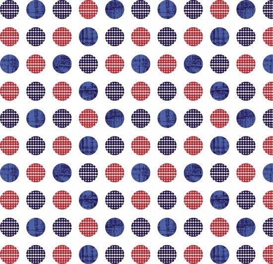 Patriotic Pride Dots on White