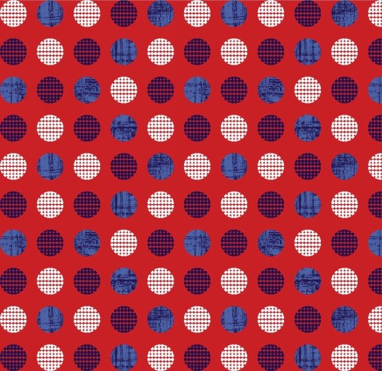 Patriotic Pride Dots on Red
