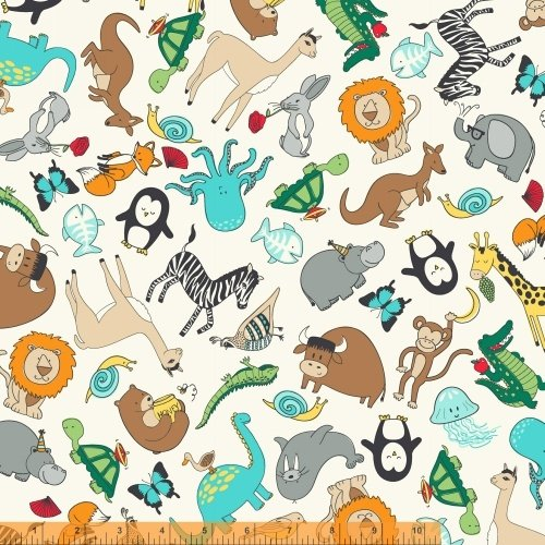Animal ABC's Flannel Tossed Animals