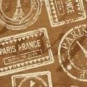 Destination Paris travel stamps