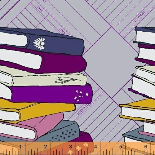Literary Book Border Print on Lavender