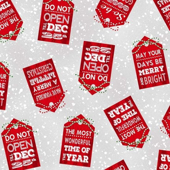 Holiday Traditions Red Gift Tags