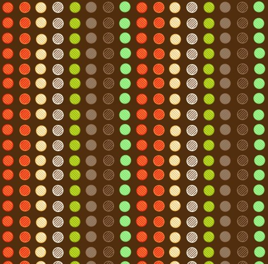 Clean Living Dots on Brown