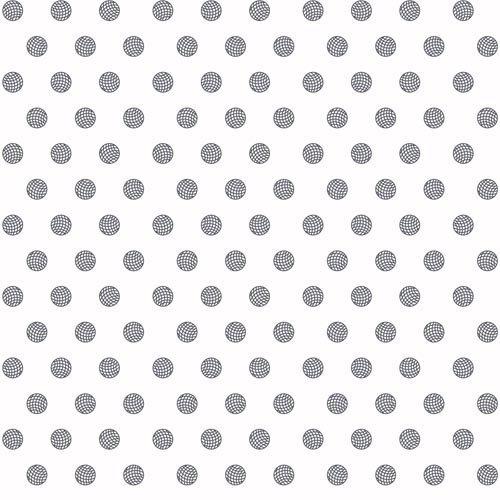 Sun Print Mesh Dots on White