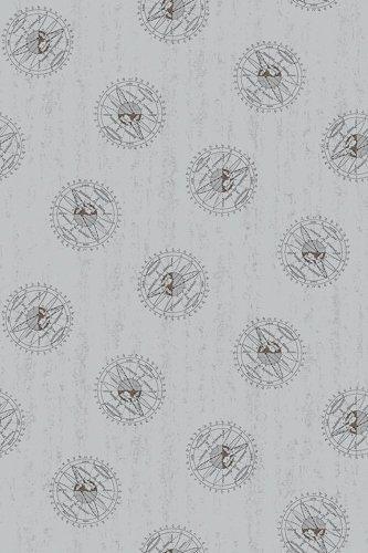 Encyclopedia Galactica Sky Map on Gray