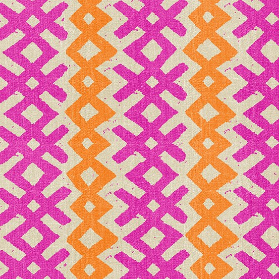 Story Lines Repeating Stripe Pink and Orange