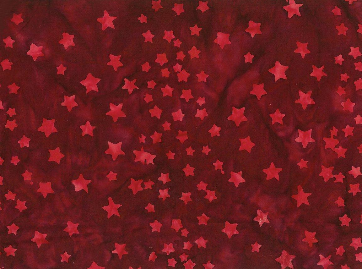 Batik Bandana Dark Red Stars
