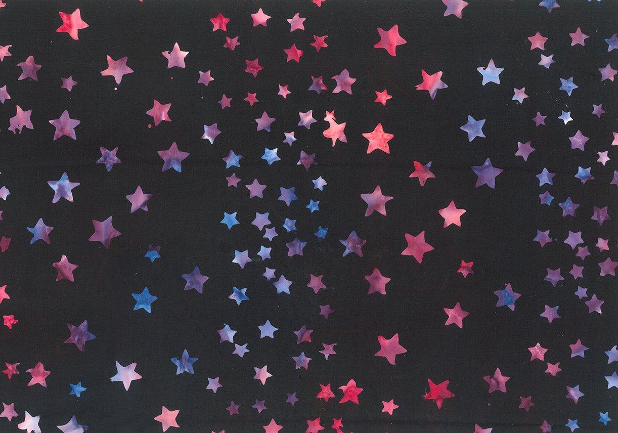 Batik Bandana Black Multi Stars