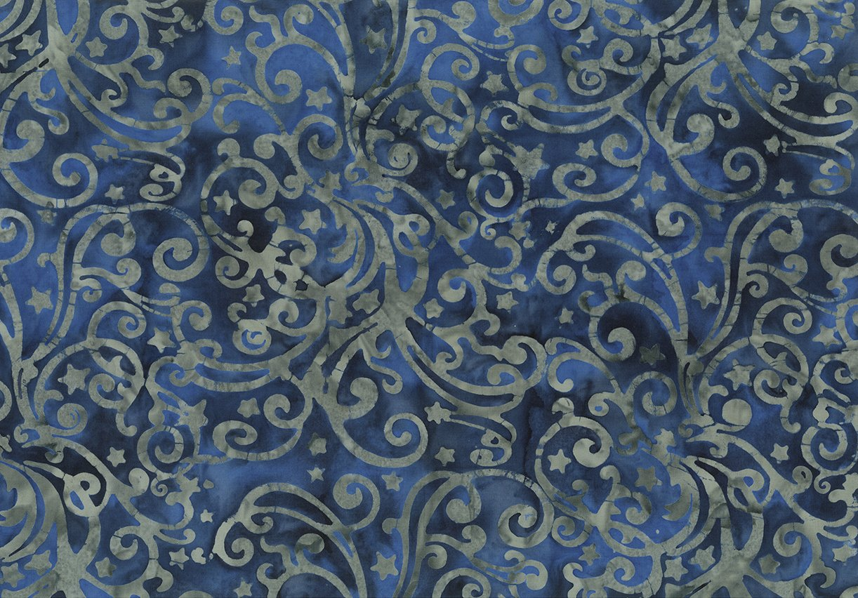 Batik Bandana Royal Blue Filigree