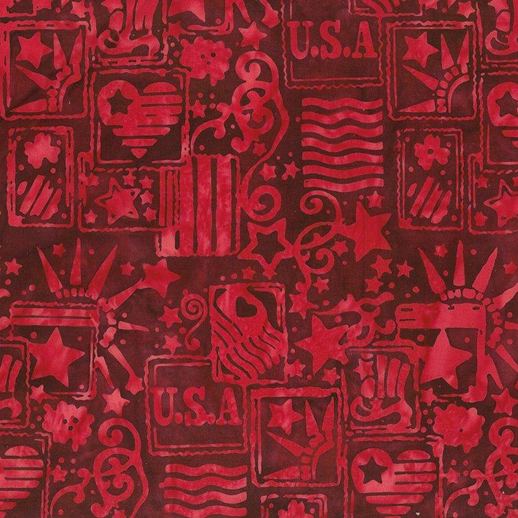 Batik Bandana Red Patriotic