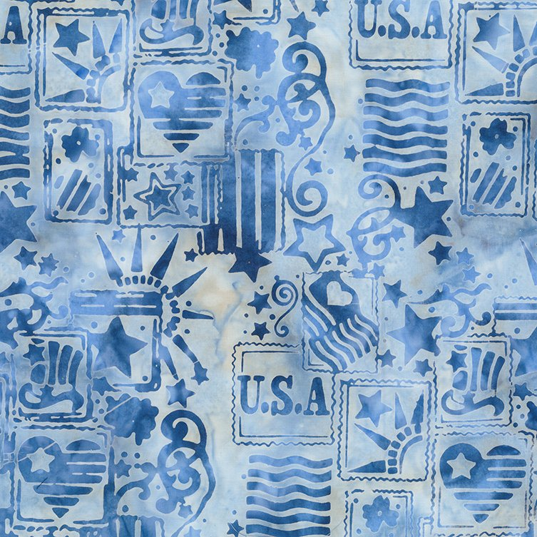 Batik Bandana Light Blue