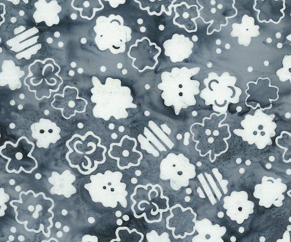 Batik Bandana Gray Floral