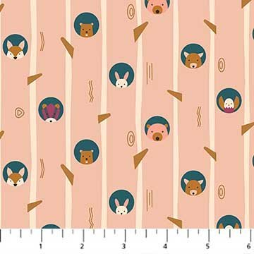 Treehouse 90066-21 Pink Animal Stripe